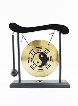 6goodeals, MULTI-SET Feng Shui Zen Art Brass Gong with Woode