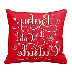 Gotd BABY IT IS COLD OUTSIDE Letters Vintage Christmas Sofa