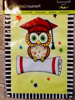 GRADUATE OWL GARDEN Flag