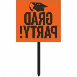 Graduation Yard Sign Orange Orange Graduation Party Supplies