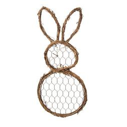 Grapevine & Chicken Wire Bunny Decor Accent, 12""