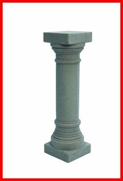 Gray Greek Column Statue Pedestal Pillar Outdoor Garden Lawn