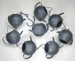 """Gray Teapot Metal Rain Chain 59"""" Long Yard & Garden Decor"""