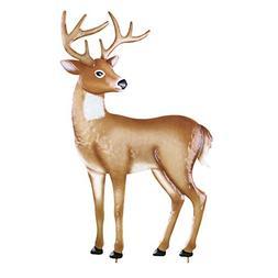 Collections Etc Grazing Deer Garden Decor Yard Stake, Head U