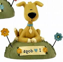 "Blossom Bucket Great Dane Pup on Grass & Flowers ""I Love Dog"