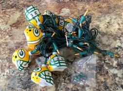Green Bay Packer Helmet String Lights- 9 helmets and 50 Gold