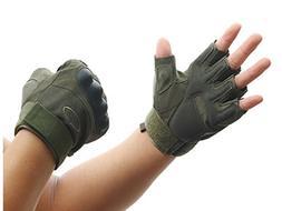Green Tactical Half Finger Gloves Fighting Men Outdoor Climb