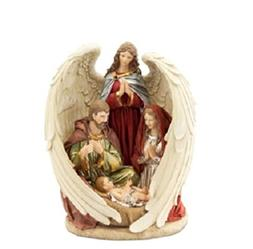 """13"""" Guardian Angel and the Holy Family Nativity Scene Christ"""
