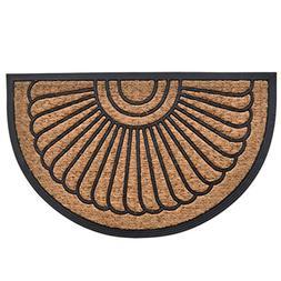 MILLIARD Half Round Coco Fiber Outdoor Entrance Doormat - 18
