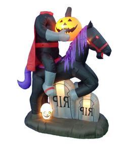 Halloween Air Blown Inflatable Yard Decoration Headless Hors