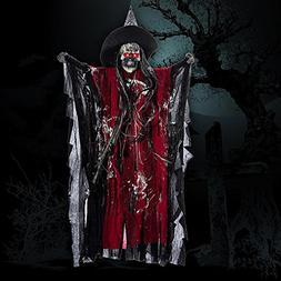 Cherry Juilt Halloween Animated Props Hanging Skeleton Ghost