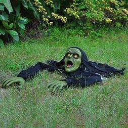 Halloween Décor Groundbreaker Zombie with Sound and Flashin
