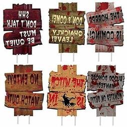 Halloween Decorations Yard Signs Outdoor, 6PCS With Stake Be
