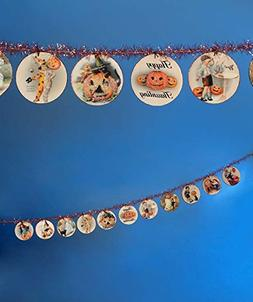Halloween Disc Garland 6FT Happy Haunting Bethany Lowe Vinta