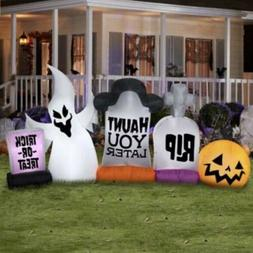 Gemmy Halloween Graveyard Scene Airblown Inflatable 9 Ft Yar
