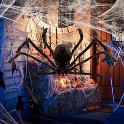 Halloween Hanging Decoration 4ft Giant Realistic Hairy SPIDE