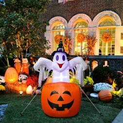Halloween Inflatable Ghost Blow in Pumpkin Up Outdoor Yard S