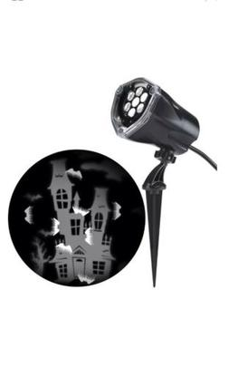 Gemmy Halloween LED Light Projector Outdoor Stake White Deco
