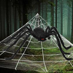 Halloween Outdoor Yard Decor 23*18 ft Giant Spider Web Set /