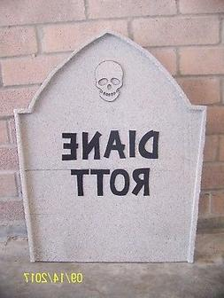 Halloween Tombstone Gravestone Wood Yard Decor. 23 inches ta