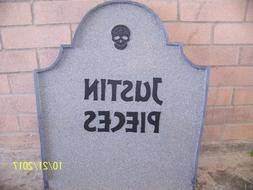 Halloween Tombstone Gravestone Wood Yard Decor Prop 24 inche