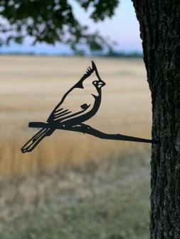 Hammer In Cardinal Yard Garden Metal Art