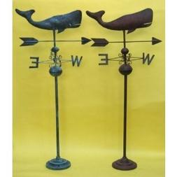Hand Made Blue Whale Weathervane - Nautical Collection
