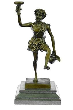 Handmade European Bronze Sculpture Pair Hot Cast Greek God D