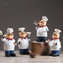 Handmade Resin Chef Figurines Kitchen Decor Home Collectible