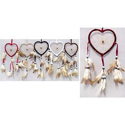 Handmade Dream Catchers Wall Hanging Decorations Heart 12 Pc