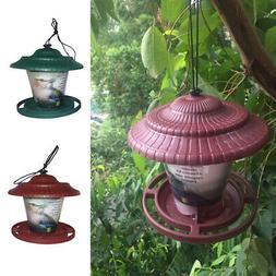 Hanging Birds Feeder Outdoor Garden Seed Food Animal Dispens