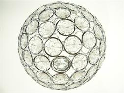 """6.5"""" Hanging Crystal Ball Chandelier Round Decorative Metal"""