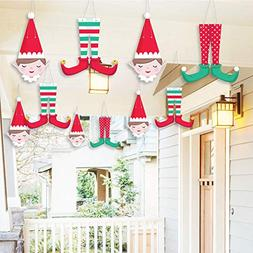 Hanging Elf Squad - Outdoor Kids Elf Christmas and Birthday