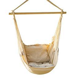 CCTRO Hanging Rope Hammock Chair Swing Seat, Large Brazilian