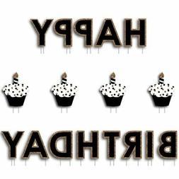 Adult Happy Birthday - Gold - Lawn Decorations - Happy Birth