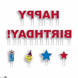 Yard Card HAPPY BIRTHDAY! Boy or Girl All-Weather 18pc Greet