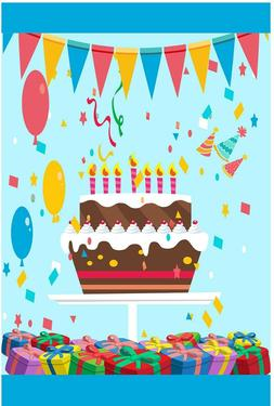 Happy Birthday Garden Flag Outdoor Banner 12x18 2-Sided Heav