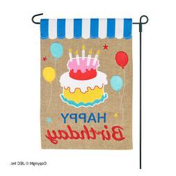 Happy Birthday Garden Flag Yard High Quality Burlap Two-Side