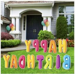Happy Birthday Lawn Sign Letters. Yours To Keep!
