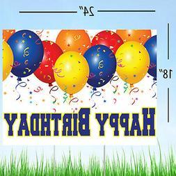 Happy Birthday Yard Sign Lawn Decoration, Celebration Balloo