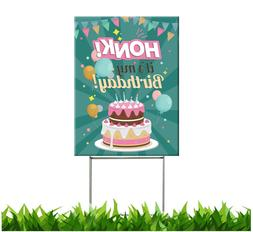Happy Birthday Yard Sign with Stakes | Honk Its My Birthday