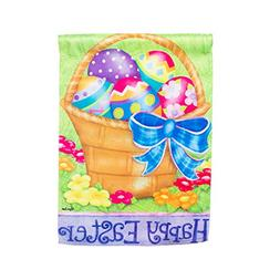 "Happy Easter Basket Garden Flag Size: 18"" H x 12.5"" W"