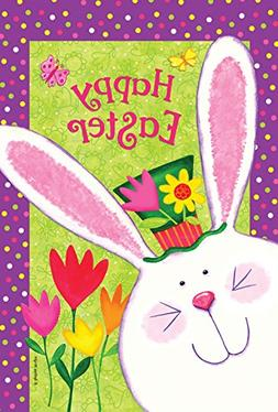 Toland Home Garden Happy Easter Bunny 12.5 x 18 Inch Decorat