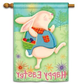 "Happy Easter Bunny Egg Hunt 28"" x 40"" Decorative Outdoor Hou"