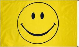 Happy Face  Flag: 3x5ft poly