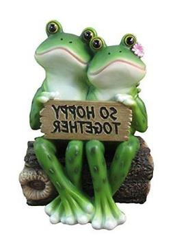 """Happy Frog Couple """"So Hoppy Together"""" Fun Decor Figurine By"""