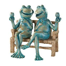 Happy Hour Frogs Garden Statue, by Collections Etc