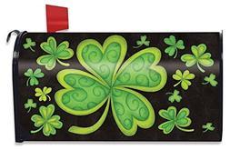 Happy St. Patrick's Day Magnetic Mailbox Cover Shamrocks Sta