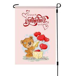 Happy Valentine Day Cute Teddy Bear Balloons Yard Decor Gard