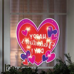 Happy Valentine's Day Shimmer Heart Window/Wall/Door/Yard De